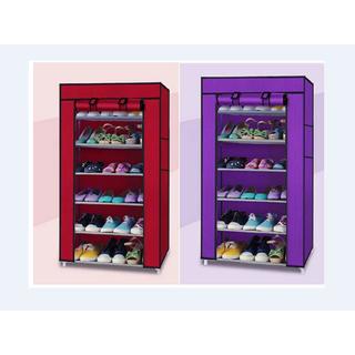 Tủ vải đựng giày 7 tầng 6 ngăn khung sắt inox bền chắc chắn - chính hãng - Tủ vải đựng giày 7 tầng 6 ngăn thumbnail