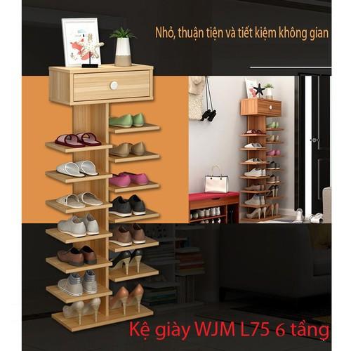 Kệ giày WJM L75 5 tầng- kệ giày gỗ- kệ giày độc đáo- kệ giày đẹp- kệ giày đa năng- giá 5tầng để giày dép- kệ đựng giày dép - 4650747 , 14120381 , 15_14120381 , 550000 , Ke-giay-WJM-L75-5-tang-ke-giay-go-ke-giay-doc-dao-ke-giay-dep-ke-giay-da-nang-gia-5tang-de-giay-dep-ke-dung-giay-dep-15_14120381 , sendo.vn , Kệ giày WJM L75 5 tầng- kệ giày gỗ- kệ giày độc đáo- kệ giày đẹp