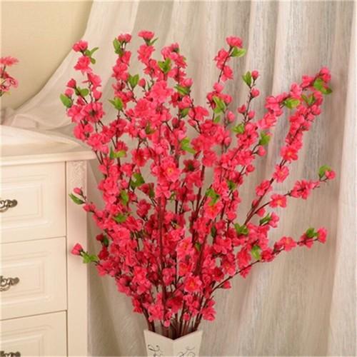 1 cành hoa anh đào đỏ