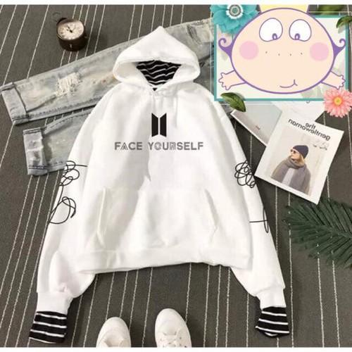 Áo hoodie BTS phối kẻ