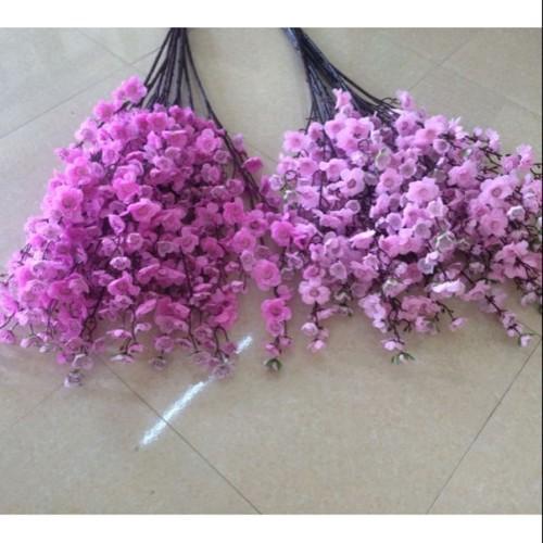 1 cành hoa anh đào hồng đậm