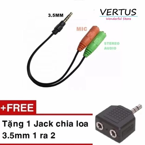 Cáp chia Audio 3.5 ra Mic và Loa tặng kèm 1 Jack loa 3.5 1 ra 2 - 11216978 , 14139081 , 15_14139081 , 116000 , Cap-chia-Audio-3.5-ra-Mic-va-Loa-tang-kem-1-Jack-loa-3.5-1-ra-2-15_14139081 , sendo.vn , Cáp chia Audio 3.5 ra Mic và Loa tặng kèm 1 Jack loa 3.5 1 ra 2