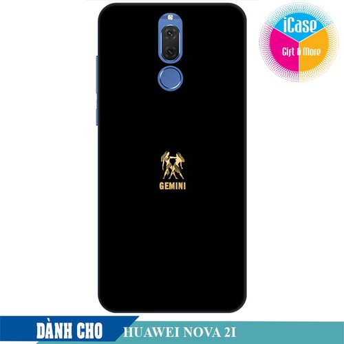 Ốp lưng nhựa dẻo dành cho Huawei Nova 2i in hình Cung Song Tử