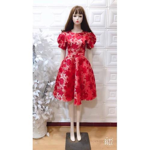 Đầm dự tiệc công chúa gấm họa tiết hoa tay phồng cao cấp - 4653046 , 14137002 , 15_14137002 , 350000 , Dam-du-tiec-cong-chua-gam-hoa-tiet-hoa-tay-phong-cao-cap-15_14137002 , sendo.vn , Đầm dự tiệc công chúa gấm họa tiết hoa tay phồng cao cấp
