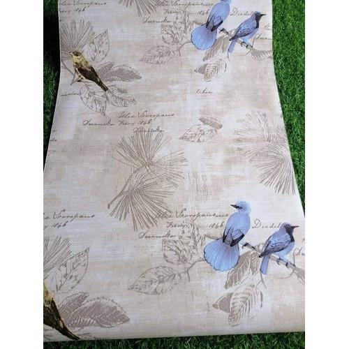 10m giấy dán tường chim và cây khổ rôngj 45cn có keo dán sẵn