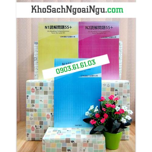 Bộ sách Dokkai mondai 55+ – Trọn bộ 3 cuốn