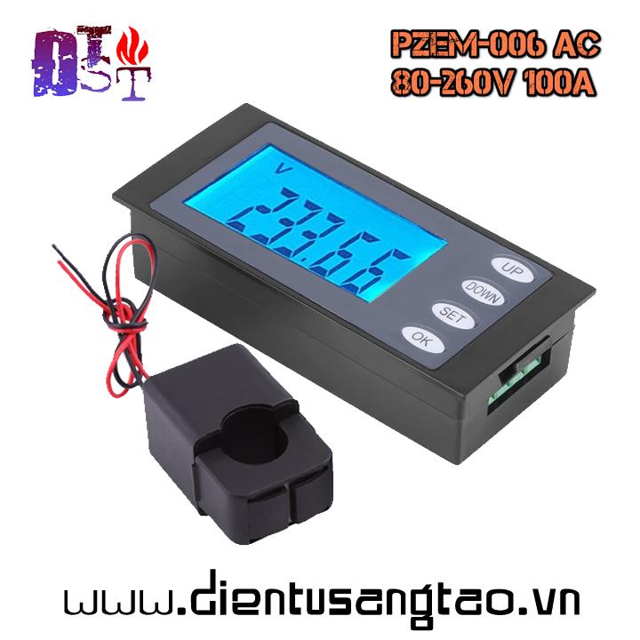 Công tơ điện tử PZEM-006 AC 80 - 260V 100A Cuộn kẹp
