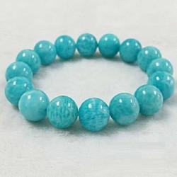 Vòng tay đá Amazonite sắc xanh ngọc thanh khiết .10LY