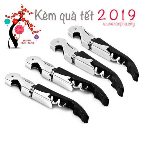 Dụng cụ mở nắp chai rươu vang kèm quà tết 2019 code 117