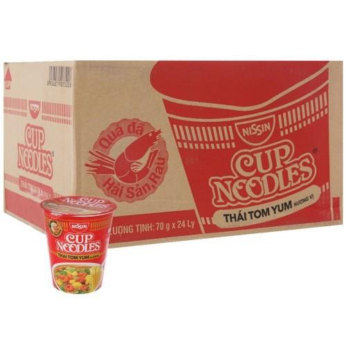 Mì Thái Tom Yum Cup Noodles Nissin thùng 24 ly x 70g