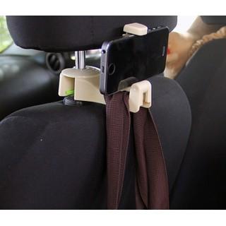 Móc treo đồ kèm giá kẹp điện thoại trên ô tô - moctreodo3 thumbnail