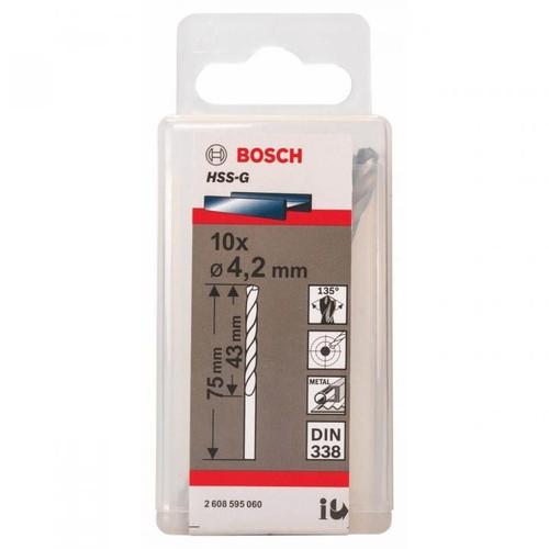 4.2mm Bộ mũi khoan sắt 10 mũi HSS-G Bocsh. 2608595060