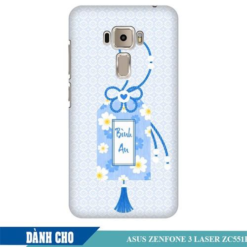 Ốp lưng nhựa dẻo dành cho Asus Zenfone 3 Laser ZC551KL in Thẻ Bài Bình An
