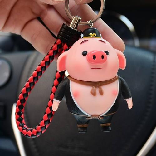 Móc khóa móc khóa con lợn móc khóa heo móc khóa hoạt hình móc khóa dễ thương móc khóa bát giới