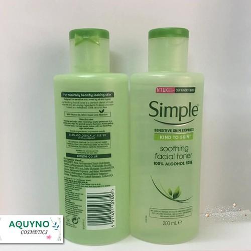 Nước hoa hồng Simple Kind to Skin Soothing Facial Toner - 4654689 , 14151258 , 15_14151258 , 190000 , Nuoc-hoa-hong-Simple-Kind-to-Skin-Soothing-Facial-Toner-15_14151258 , sendo.vn , Nước hoa hồng Simple Kind to Skin Soothing Facial Toner