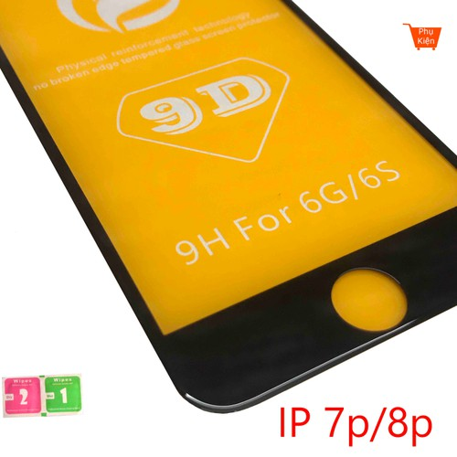 Kính cường lực ip 7plus 8plus full màn 9D cao cấp