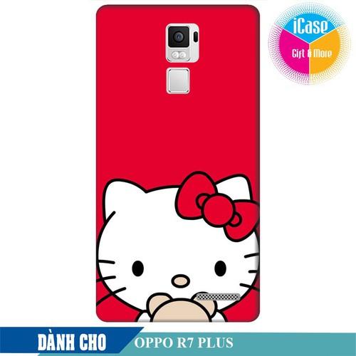 Ốp lưng nhựa dẻo dành cho Oppo R7 Plus in hình Hello Kitty