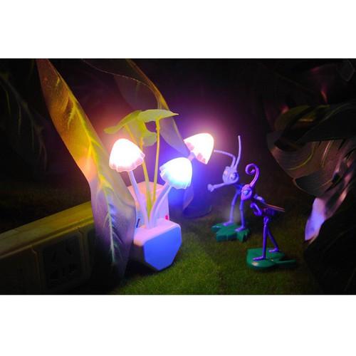 Đèn ngủ cảm biến ánh sáng 3 cây nấm
