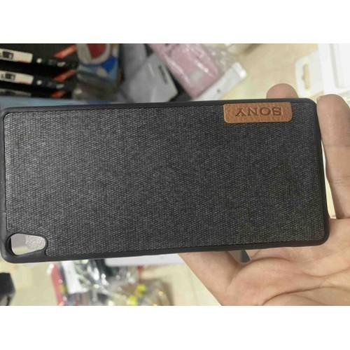Ốp lưng Sony XA dẻo lưng vải thời trang
