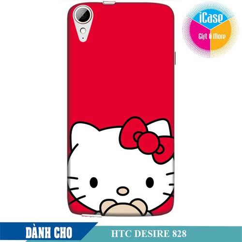 Ốp lưng nhựa dẻo dành cho HTC Desire 828 in hình Hello Kitty