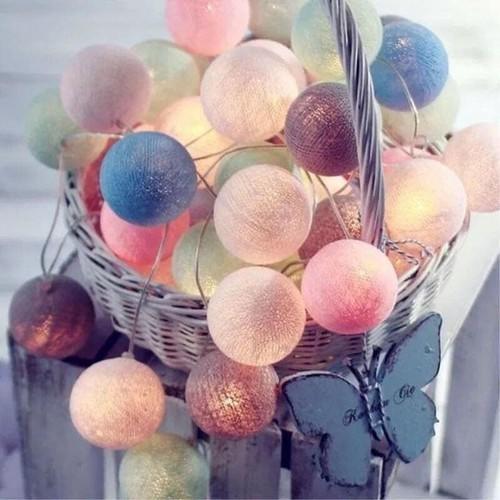 Bộ đèn trang trí Cotton Ball nhiều màu - 10982952 , 14163421 , 15_14163421 , 199000 , Bo-den-trang-tri-Cotton-Ball-nhieu-mau-15_14163421 , sendo.vn , Bộ đèn trang trí Cotton Ball nhiều màu