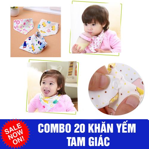 Combo 20 khăn yếm tam giác có cúc bấm - 6285152 , 16400000 , 15_16400000 , 160000 , Combo-20-khan-yem-tam-giac-co-cuc-bam-15_16400000 , sendo.vn , Combo 20 khăn yếm tam giác có cúc bấm