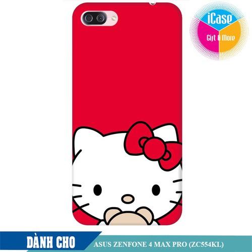 Ốp lưng nhựa dẻo dành cho Asus Zenfone 4 Max Pro ZC554KL in hình Hello Kitty