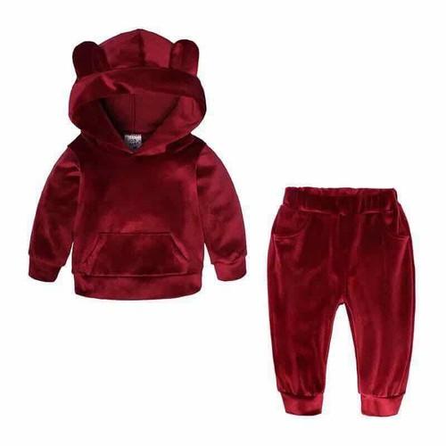 bộ nhung gấu cho bé