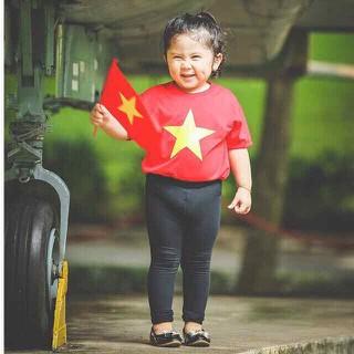 Áo đỏ sao vàng cho bé áo bóng đá áo thể thao cho bé áo cờ đỏ sao vàng áo thun bé trai áo thun bé gái
