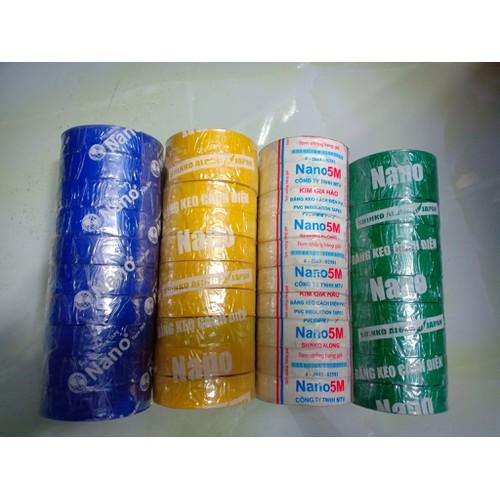 10 cuộn Băng keo điện NANO  5MILx3-4inchx10Yax20Ya