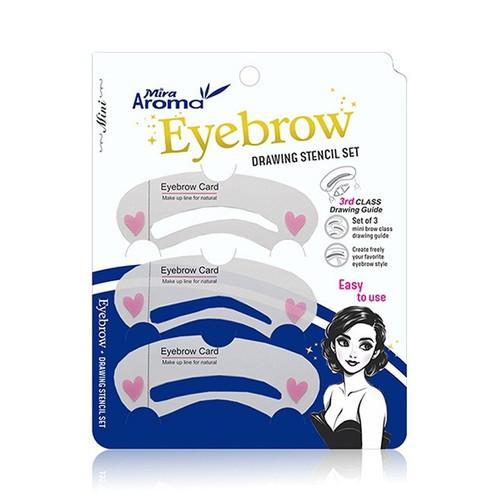 Bộ Khuôn Kẻ Chân Mày Mira Aroma Eyebrow Drawing Stencil Set 3 miếng bịch - 4658092 , 14175675 , 15_14175675 , 94000 , Bo-Khuon-Ke-Chan-May-Mira-Aroma-Eyebrow-Drawing-Stencil-Set-3-mieng-bich-15_14175675 , sendo.vn , Bộ Khuôn Kẻ Chân Mày Mira Aroma Eyebrow Drawing Stencil Set 3 miếng bịch