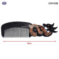 Lược sừng đen hình Rồng - Size: L - 18cm- Quà tặng rất đẹp -COH122B - Horn Comb of HAHANCO - Chăm sóc tóc