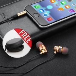 Tai nghe Có dây cao cấp L1 có mic, dây siêu bền, khuyến mãi tặng hộp đựng + nút tai