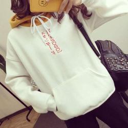 Áo hoodie nữ thêu chữ