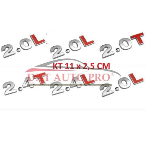 Tem 3d kim loại 1.6t,2.0 t,2.4t,3.0t trang trí xe oto. - 18980068 , 13830555 , 15_13830555 , 69000 , Tem-3d-kim-loai-1.6t2.0-t2.4t3.0t-trang-tri-xe-oto.-15_13830555 , sendo.vn , Tem 3d kim loại 1.6t,2.0 t,2.4t,3.0t trang trí xe oto.