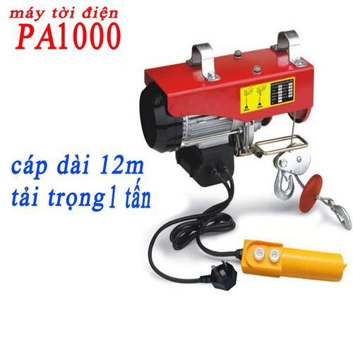 máy tời điện 1 tấn cáp 12 mét PA1000