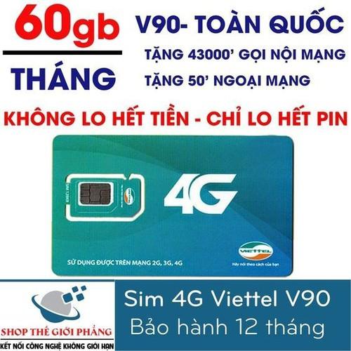 Sim 4G viettel V90 - CHỈ BÁN LẺ 1 CÁI , KHÔNG BÁN BUÔN SỐ LƯỢNG NHIỀU sim 4G viettel V90  goi miễn phí