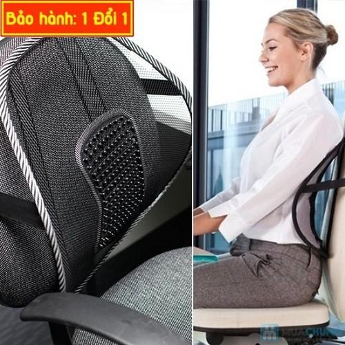 Tựa lưng văn phòng  giúp điều chỉnh dáng ngồi, nâng đỡ cột sống và giảm nhức mỏi ở vùng vai