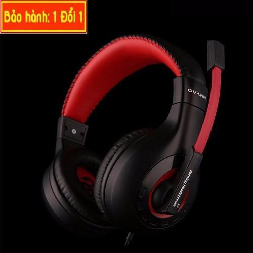 Headphone Ovann có kiểu dáng full size, ôm gọn đầu người dùng, chất lượng âm thanh rất tốt