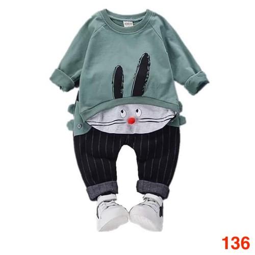Bộ quần áo chất da cá cho bé từ 6 đến 22kg - Ms 136