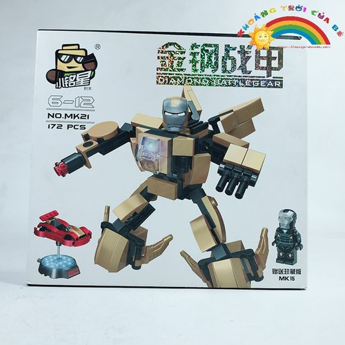 Đồ Chơi Xếp hình thông minh robot No.mk21 [SHIP TOÀN QUỐC]