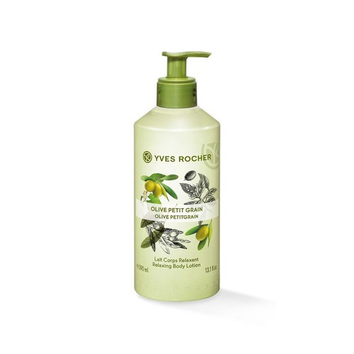 Dưỡng thể Yves Rocher Relaxing Body  Loyion Olive Lemongrass 390 ml