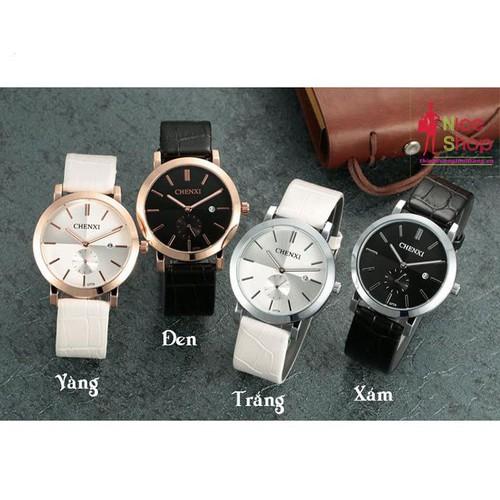 Đồng hồ dây da nữ Chenxi có lịch phong cách đơn giản - DHK070D