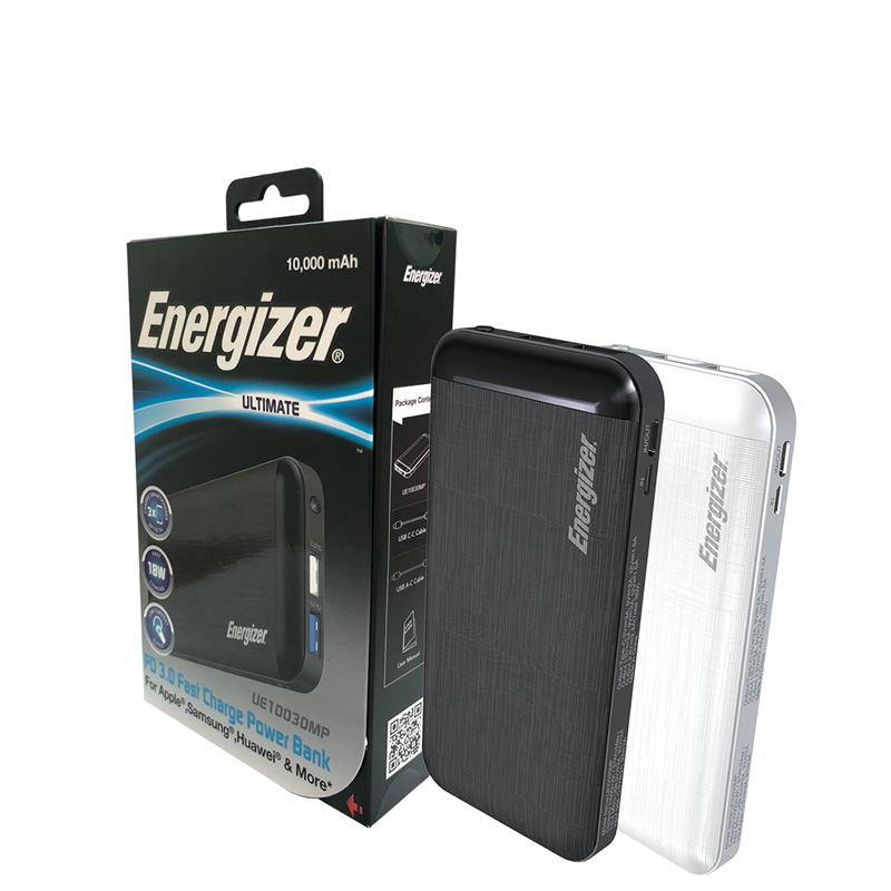 Pin sạc dự phòng Energizer SIÊU NHÂN màu trắng - UE10030MP - 842982100978