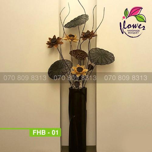 hoa khô - hoa sen khô trang trí nội thất FHB01