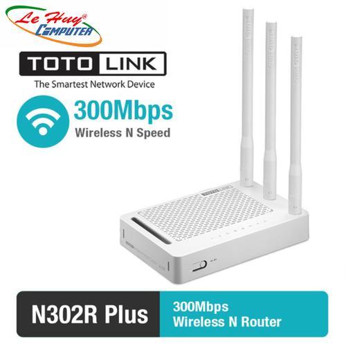 Bộ Phát Wifi Totolink N302R Plus Chuẩn N Tốc Độ 300Mbps Mở Rộng Sóng - 7110554 , 13838283 , 15_13838283 , 485000 , Bo-Phat-Wifi-Totolink-N302R-Plus-Chuan-N-Toc-Do-300Mbps-Mo-Rong-Song-15_13838283 , sendo.vn , Bộ Phát Wifi Totolink N302R Plus Chuẩn N Tốc Độ 300Mbps Mở Rộng Sóng