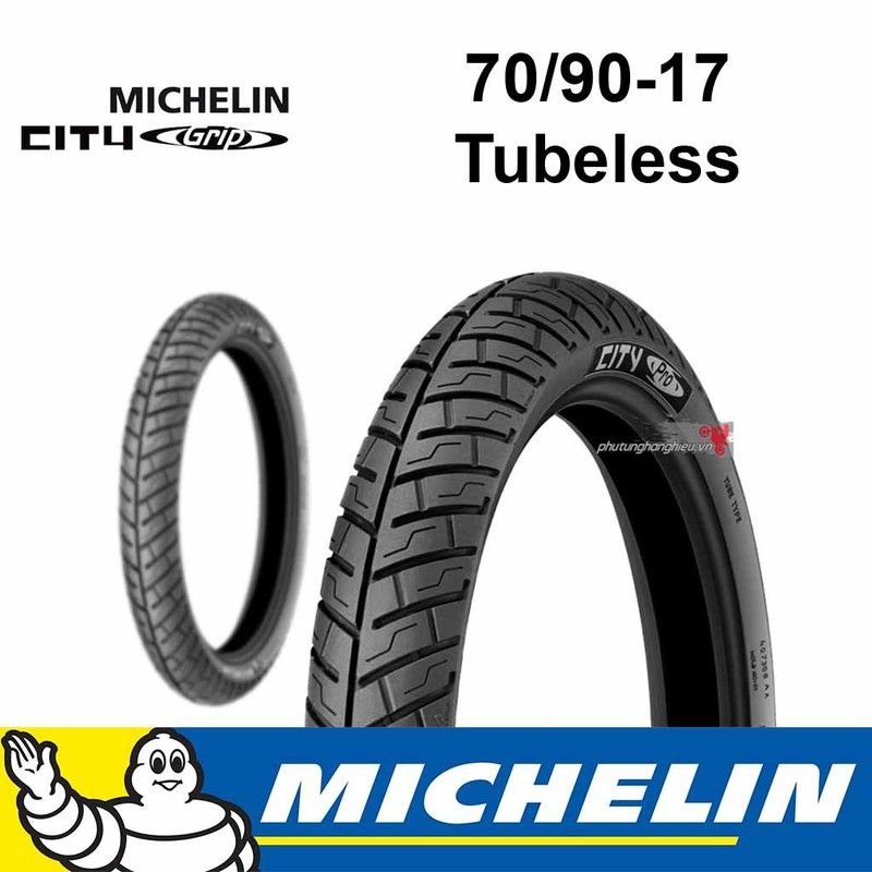 Vỏ xe Michelin City Grip Pro 70.90-17 3