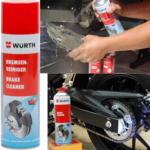 Chai xịt tẩy rửa làm sạch dầu mỡ thắng đĩa Wurth Brake Cleaner 500ml