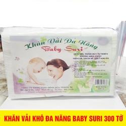 Khăn giấy khô đa năng Baby Suri 300 tờ