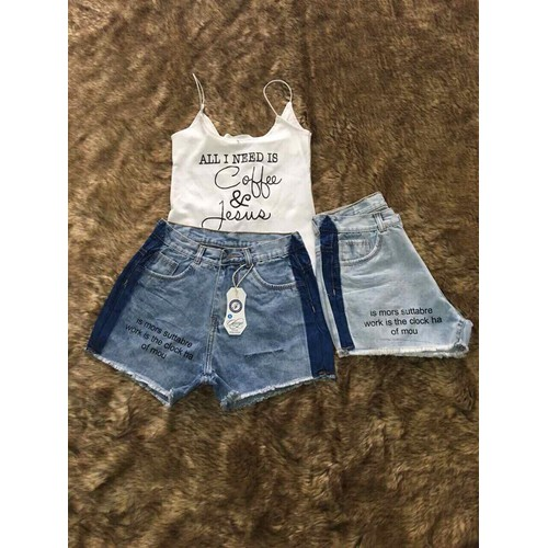 Quần short jean nữ sọc có chữ - 10989877 , 14180916 , 15_14180916 , 95000 , Quan-short-jean-nu-soc-co-chu-15_14180916 , sendo.vn , Quần short jean nữ sọc có chữ